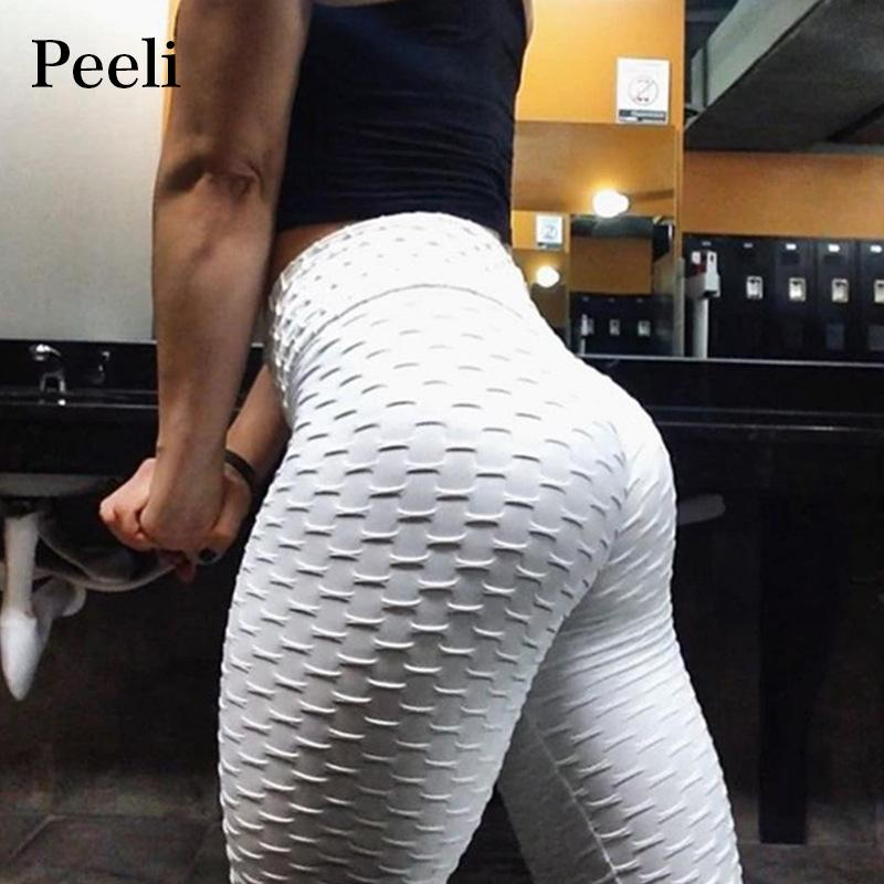 ff876b9cf77caf 2019 Peeli 2018 High Waist Sporting Fitness Leggings Women Casual Leggins  Summer Sexy Push Up Leggings Athleisure Workout Leggings S18101506 From  Junlong02, ...
