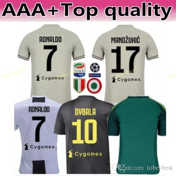 the latest d5587 62791 2018 2019 Soccer Jersey Juventus FC Men Kits 9 HIGUAIN 10 PLATINI 21 PIRLO  10 BAGGIO 7 DESCHAMPS Football Shirt Make Custom