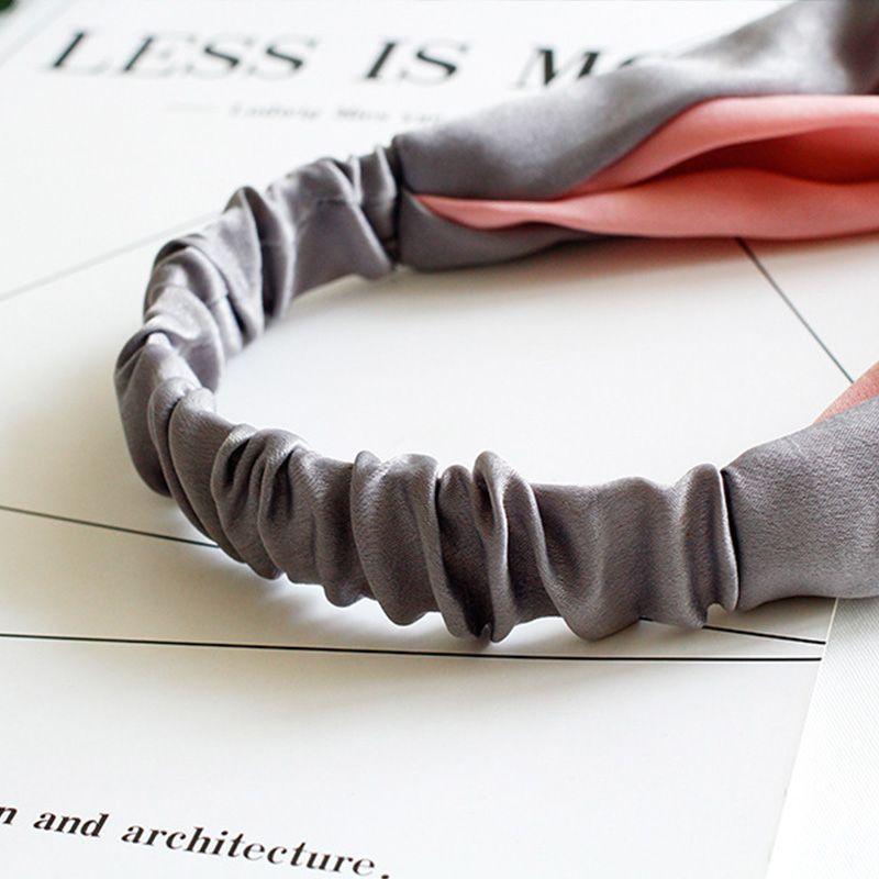 Neue Mode Einfache Cross Bow Patchwork Frauen Elegante Elastische Stirnband Haar Halter Ornament Bandanas Haarschmuck Haarbänder