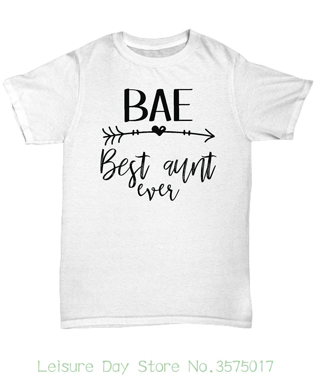 Man Print T Shirt Hipster Mmandidesigns Bae Best Aunt Ever T Shirt