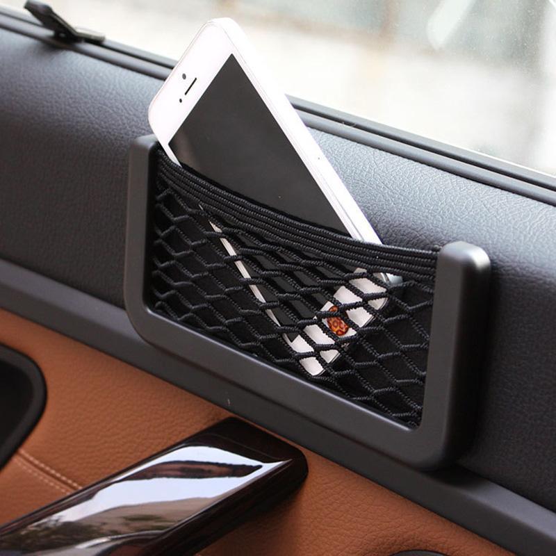 Araba Örgü Net Çanta Araba Organizatör Evrensel Depolama Net Tutucu Cep BMW E46 Için Yaratıcı Gündelik Örgü Çanta Araba Styling Aksesuarları
