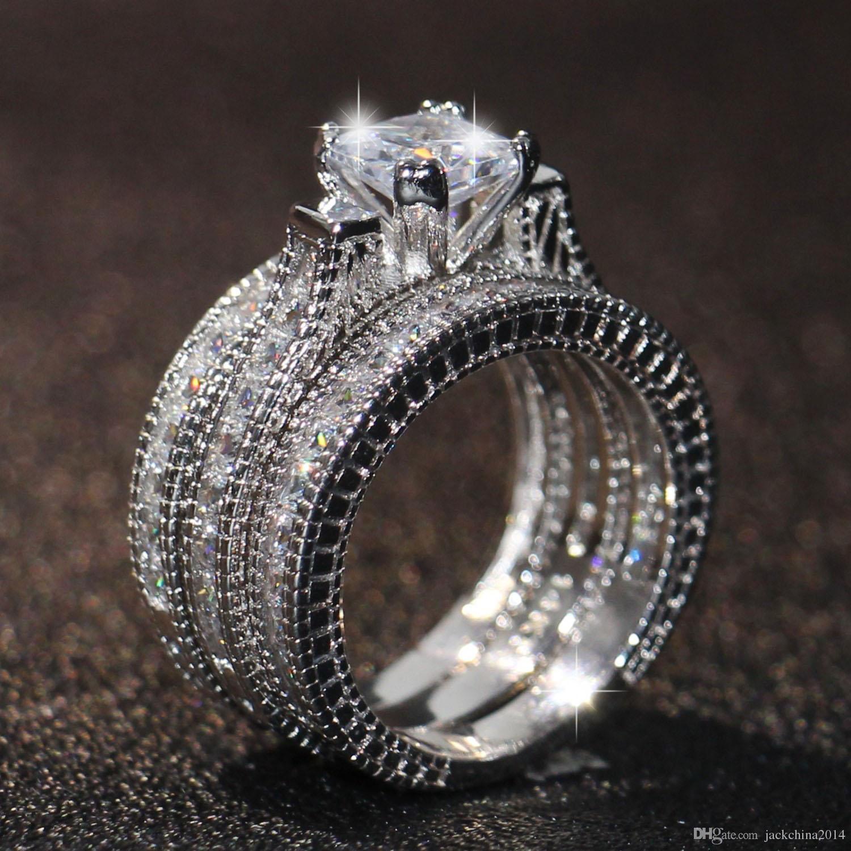 2019 Wholesale Hot Engagement Princess Cut 6mm Topaz White