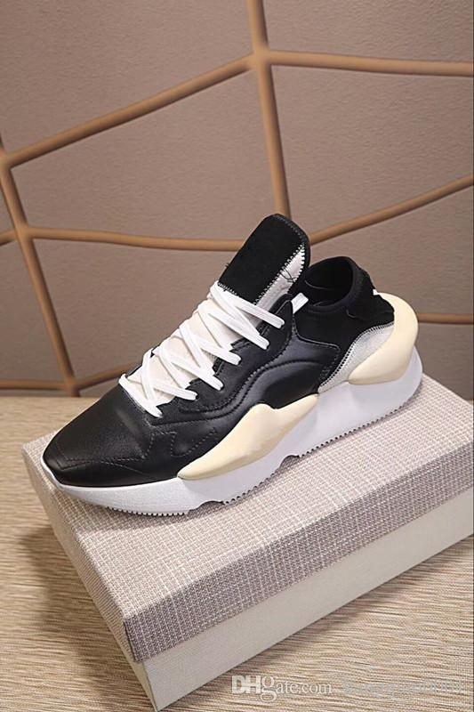 e2832151864fb Kanye West Y 3 NOCI0003 Red White Black High Top Men Sneakers Waterproof  Genuine Leather Luxury Brand Designer Y3 Casual Shoes Boots38 44 Hiking  Shoes Prom ...
