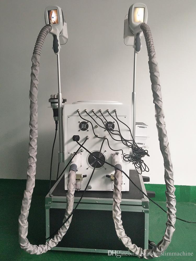 La maggior parte delle macchine di congelamento del grasso di cavitazione del laser di rf del lipo del rf di Effective criolipolisi due maniglie di cryo lavorano insieme
