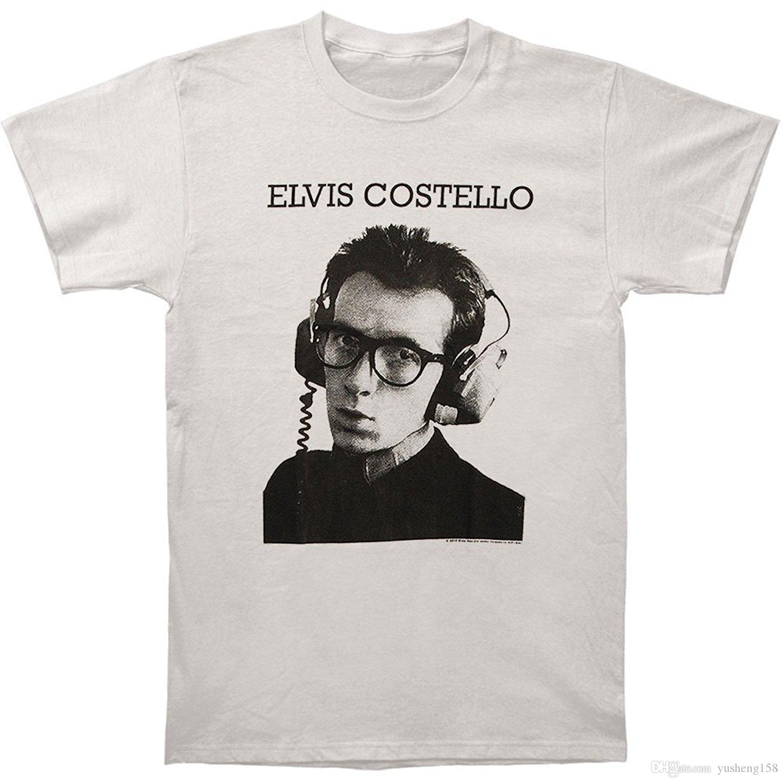 3fcb7e035fa T Shirt Elvis Costello Men's Stereophonic Slim Fit T-shirt Silver ...