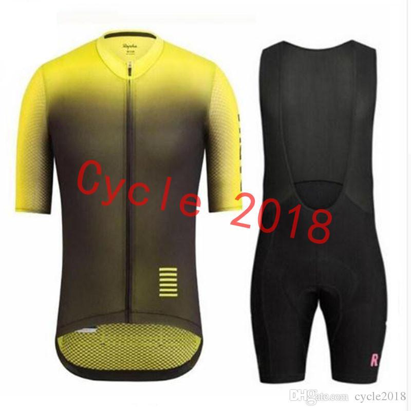 ea35c8f19 RAPHA Summer Mens Short Sleeve Cycling Jersey Bike Wear Clothes Bib SET MTB  Uniform PRO Cycling Clothing Bicycle Maillot Culotte Suit Road Bike Jerseys  ...