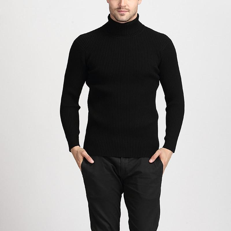 Spring Casual Slim Fit Winter Sweater Men Pullovers Solid Color ... 01cacd8e7