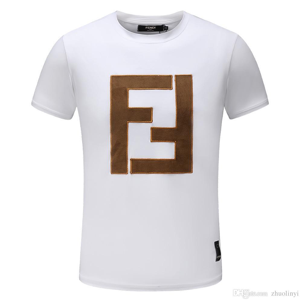 Acheter 2018 Nouvelle Mode Urbaine Broderie Occasionnels Mode Hommes Autour  Du Cou T Shirt Taille M Xxxl Fret Gratuit Bienvenue À Acheter. 611779b607d