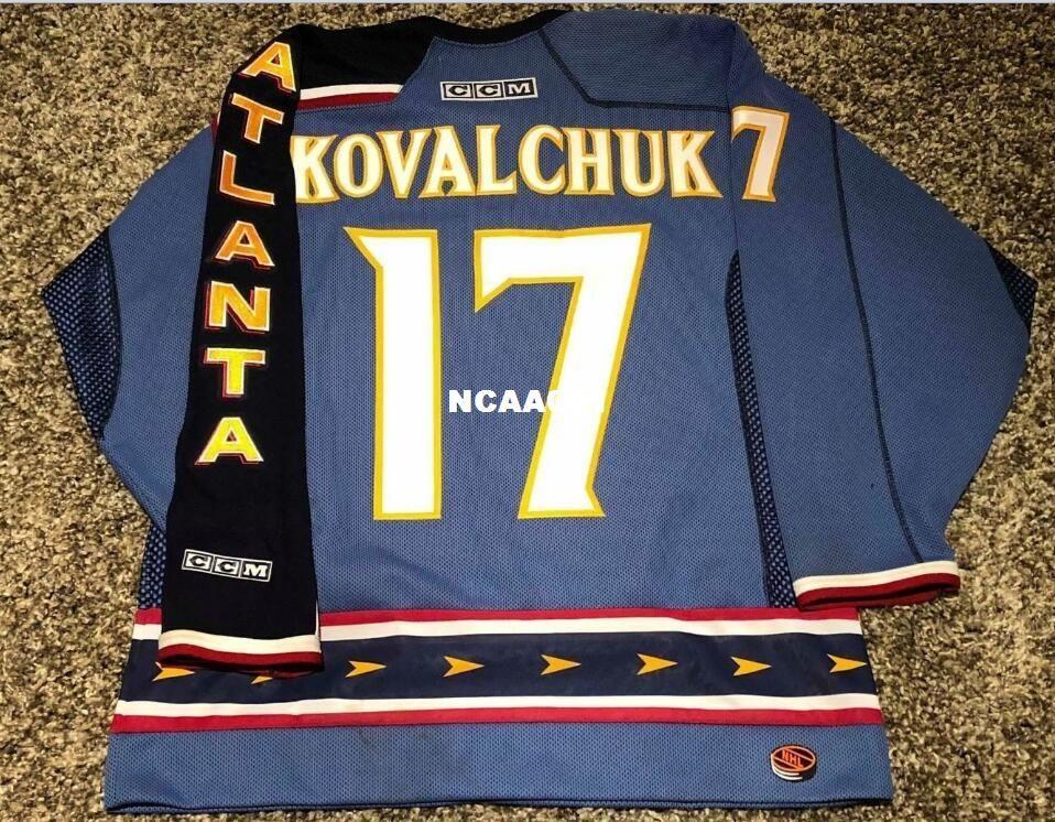 4efebf3fd77 ... inexpensive 2018 real men real full embroidery 17 ilya kovalchuk  atlanta thrashers whte blue vintage hockey