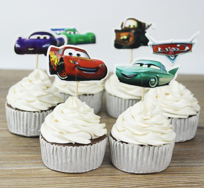 carros toppers escolhe cupcake topper bebê chuveiro suprimentos criança crianças festa de aniversário bolo decoração festa de confeiteiro