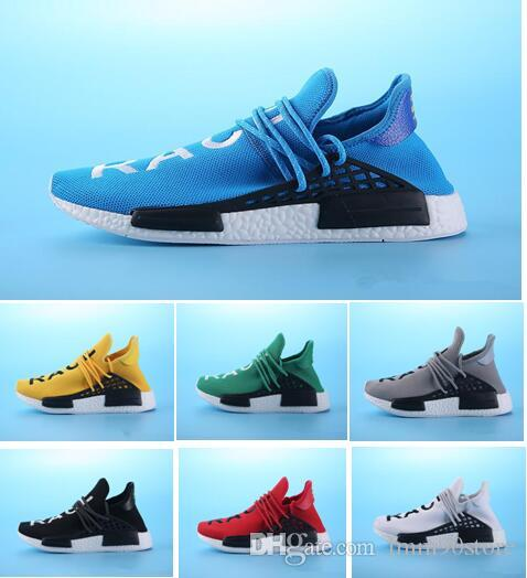 f0841ae342e74 2018 Correct Version Human Race Pharrell Williams X China Exclusive Holi  Pack Trail Basf Running Shoes PW Hu Equality Pink Designer Sneakers Mens  Running ...