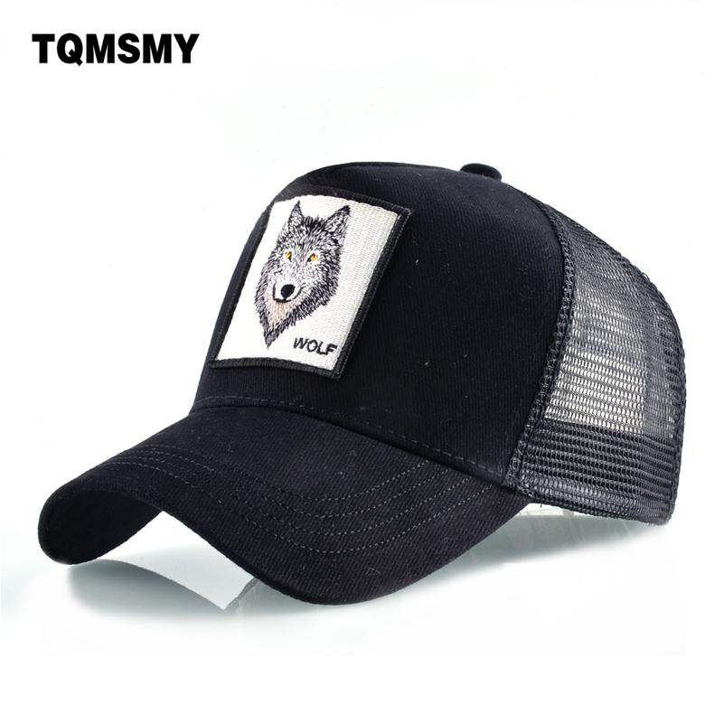 b90bbd1a648 TQMSMY Fashion Cotton Baseball Cap Men s Snapback Hats For Women Hip Hop  Gorras Bone Embroidered Wolf Caps Trucker Hats TMDHL Headwear Flat Caps  From Huazu