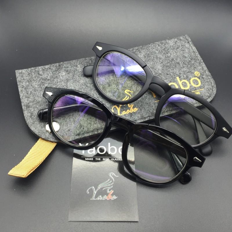 Compre Retro Vintage Óptica Óculos De Moda Top Johnny Depp Óculos De Armação  Das Mulheres Dos Homens Myopic Óculos De Armação Oculos Grau Feminino De ... 74df0f97e3