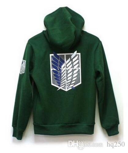 Attacco su Titan Shingeki no Kyojin Scouting Legion Cosplay Hoodie Coat con cappuccio giacca casual con cappuccio Felpa