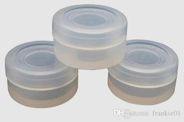 Kundenspezifischer klarer Silikonwachscotainer 2ml Lagerung Jars Dab für Konzentratwachs elektronische Zigarette transparenter klarer Silikonbehälter