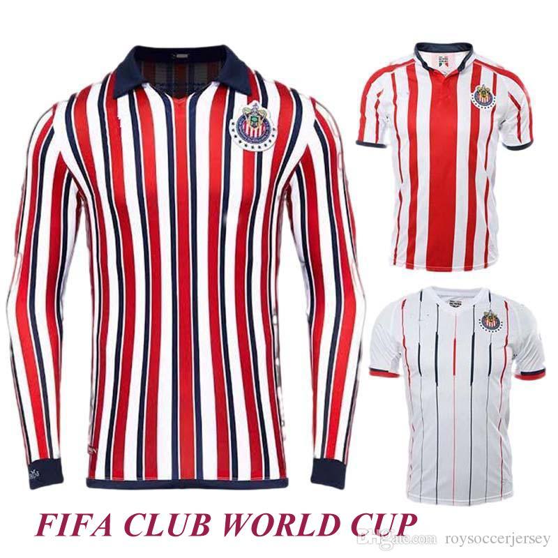 d8b4e6cac1 Compre Qualidade Tailandesa 18 19 Chivas Camisolas De Futebol 2019 Chivas  CLUB WORLD CUP Camisas De Futebol Guadalajara BRAVO O.PINEDA Futebol Camisa  De ...