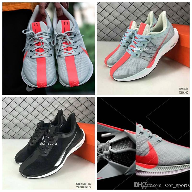 da78388a19c 2018 New Zoom Pegasus Turbo Barely Grey Hot Punch Black White Running Shoes  For Men Women React ZoomX Vaporfly Pegasus 35 Eur 36 45 Sports Shoes For  Women .