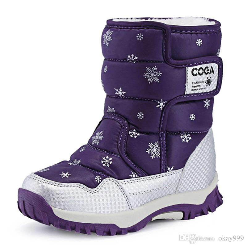 2f1a5befdeab Christmas Girls Winter Boots New Style Boy Printing Waterproof Children S Snow  Boots Keep Warm Rain Boots Kids Girls Shoes For Autumn Little Girls Cowgirl  ...