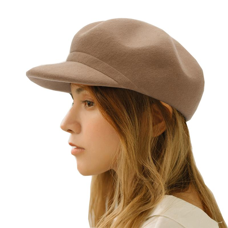 7cb9642baed32 Spring Autumn Winter Outdoor Adjustable Solid Color Cotton Wool Women  Newsboy Caps Fashion Vintage Lady Fedoras Hat