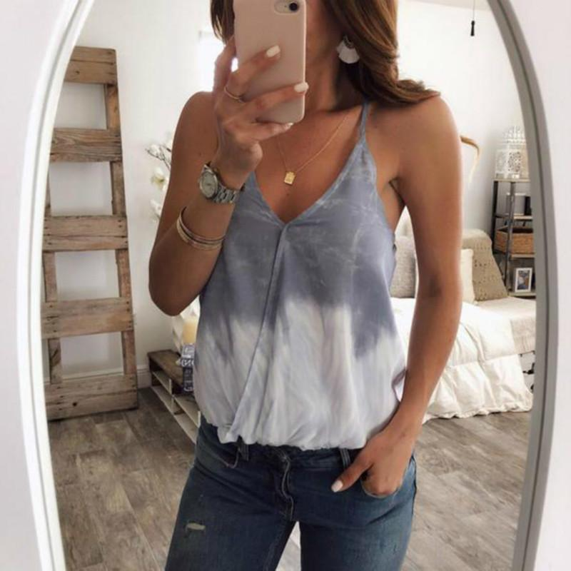 6034e9a63d5 Sexy Women Halter Tassel Tank Top Color 2019 Patchwork Summer V Neck  Sleeveless Blouse Sexy Backless Cami Vest Online with  35.06 Piece on  Jamie02 s Store ...