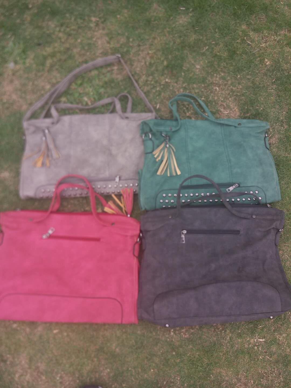Via FedEx or DHL Wholesale Women Fashion PU Tote Bag, Women Shoulder Bag, Rivet Purse, Party Monogrammable PU Bag, EAD-608