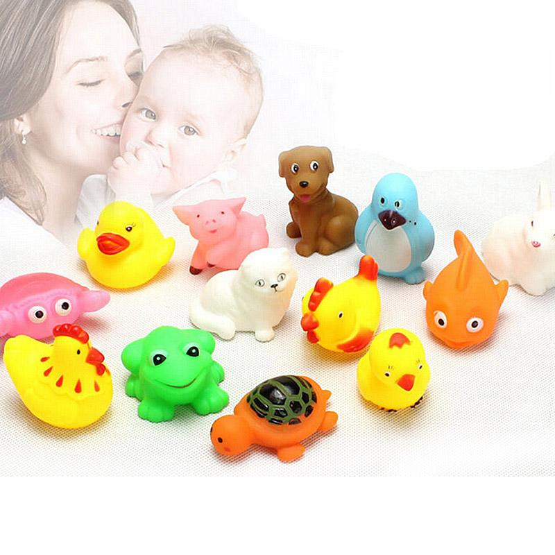 Rubber Animals With Sound Toys Lovely for Baby Shower Bath Random ...