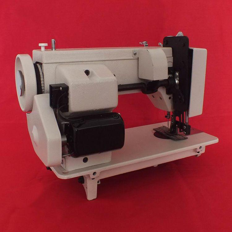 Vendita più calda Sail Rite Walking Foot Zig Zag Sewing Machine Portable Zigzag Domestic Macchina cucire in pelle medio-pesante