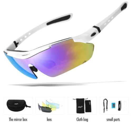 70b2fcc767 Nuevos Vidrios Polarizados De La Bicicleta Gafas De La Pesca Al Aire Libre  Eyewear Bike MTB Bicycle Sun Glasses Sport Gafas De Sol Miopía 5 Lente Por  Teblue ...