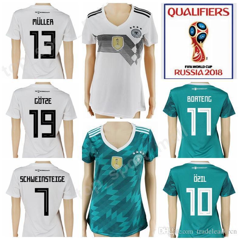281b2448cf7 ... germany women jersey 2018 world cup soccer 11 miroslav klose 13 gerd  muller woman football shirt
