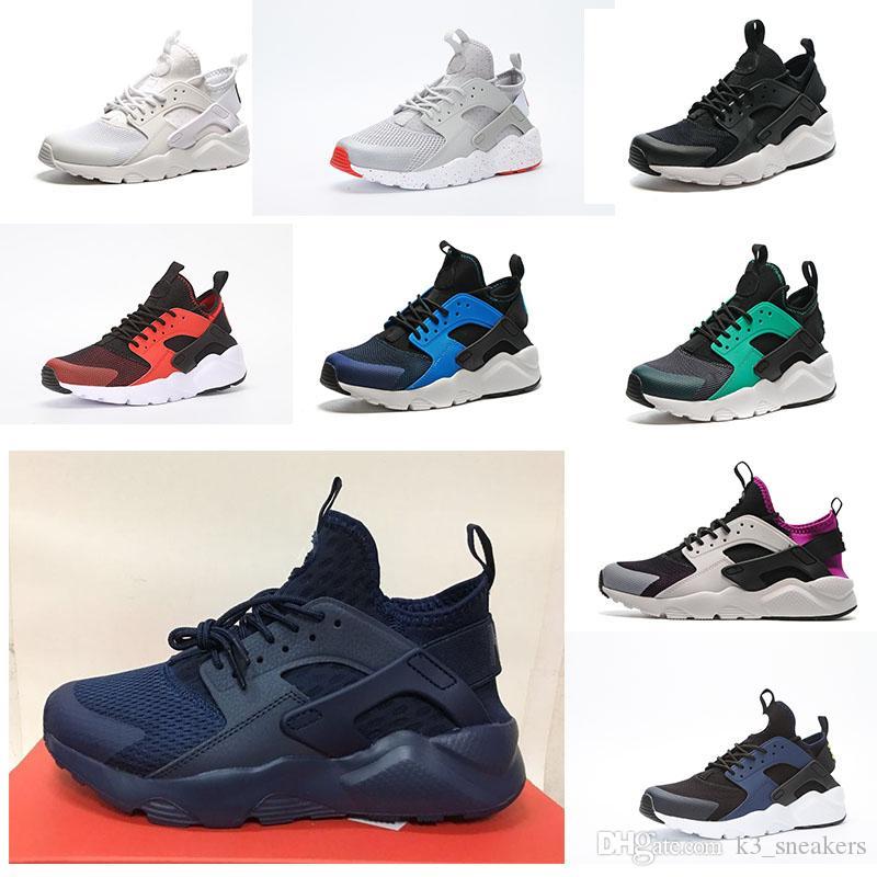 premium selection 0f446 99567 Großhandel 2018 Klassische Nike Air Huarache IV 4 Basketball Shoes Herren Laufschuhe  Ultra Run Triple Weiß Schwarz Rot Grau Huaraches Schuh Männer Frauen ...