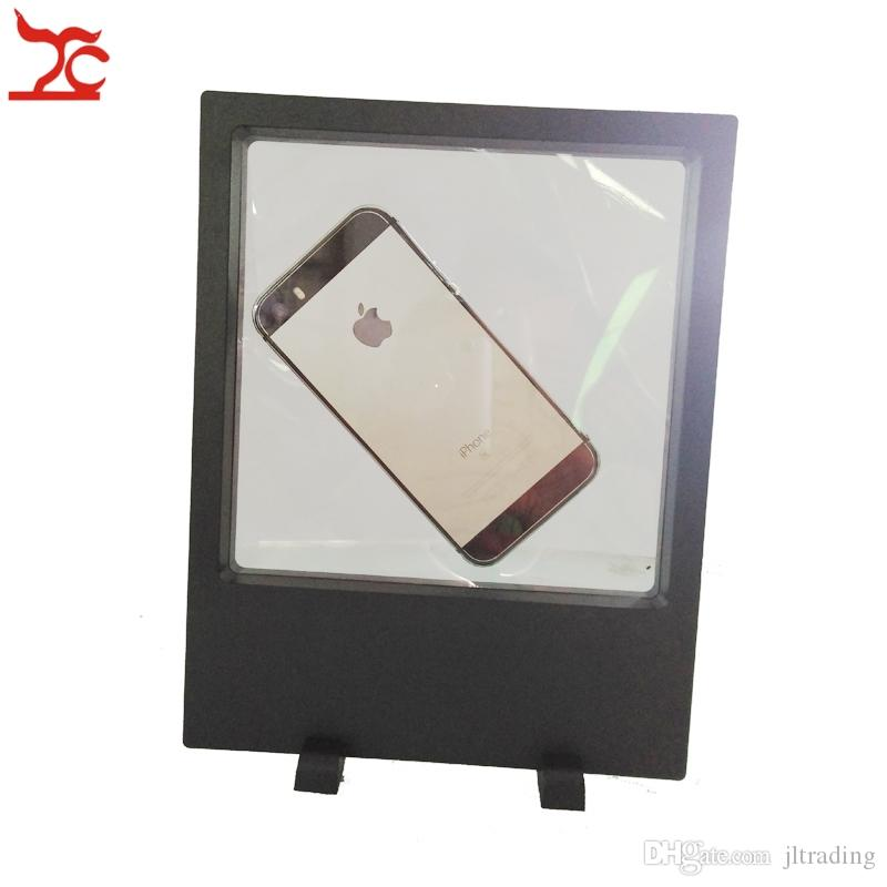 Big Size Transparent Acrylic Jewelry Display Box PET Membrane Phone Picture Necklace 3D suspension display stand 18*23cm