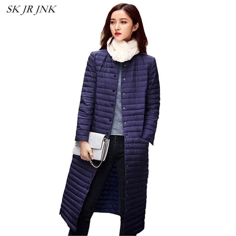 44c6e8b5a59 Ultra Light Down Jacket Women Long Puffer Coat Plus Size Winter Duck Brand  Stand Collar Plus Capuz Lightweight Ultralight LYL213