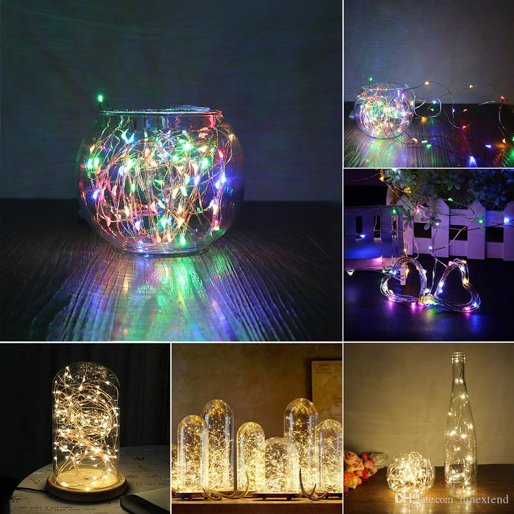 5m copper wire star string light battery included fairy waterproof