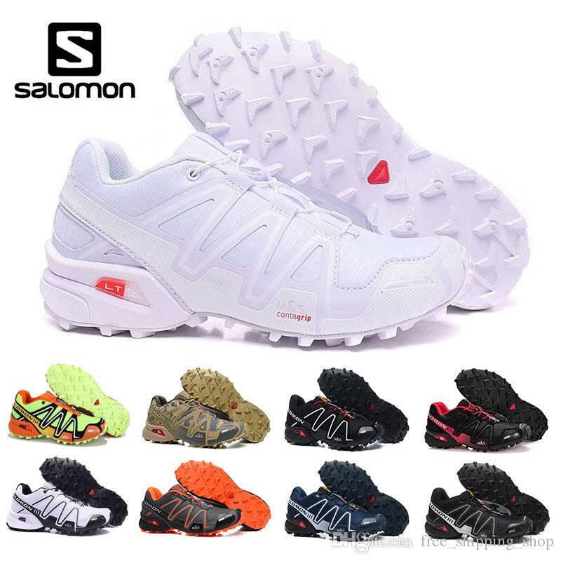 56b6719640f8 Salomon Speed Cross 3 CS Classic White Black Blue Red For Men Cross Country  Shoes New Style Running Shoes SPEEDCROSS 3 Eur 40 46 Best Running Shoe  Neutral ...
