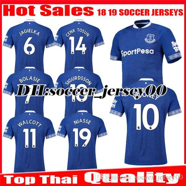 2018 2019 Everton Soccer Jersey 18 19 NIASSE Walcott CENK TOSUN ... b3433399e