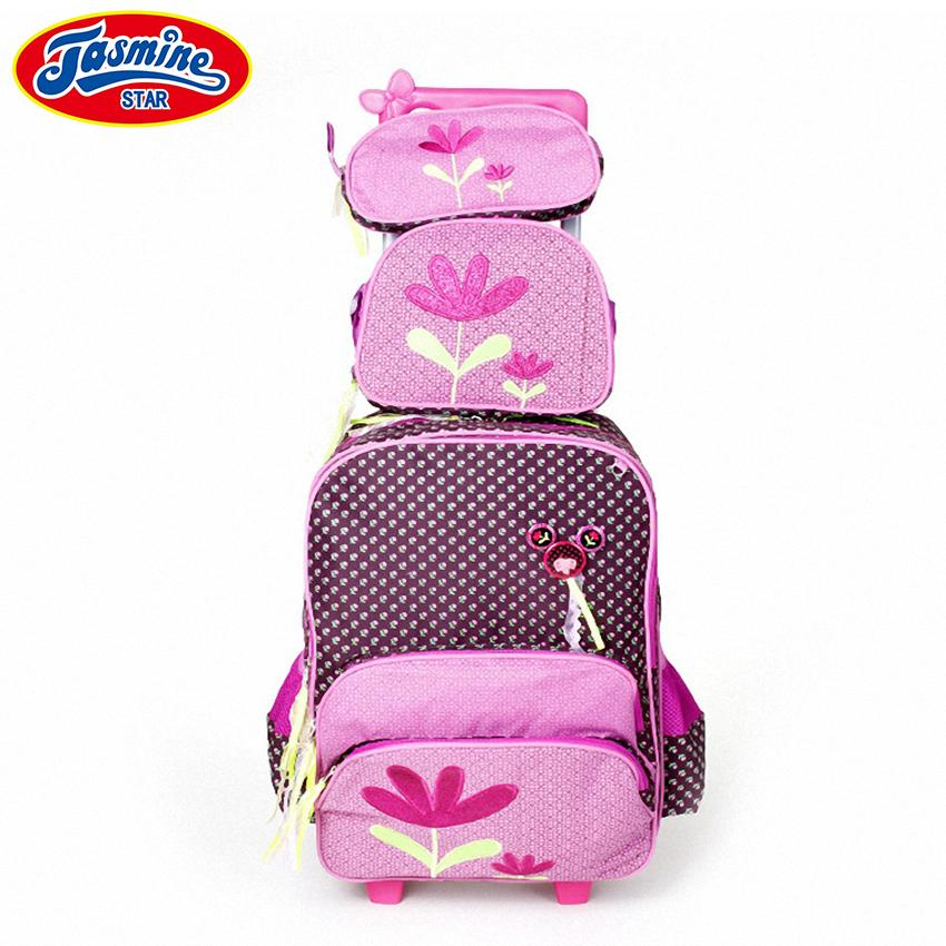 e82dd83f7e JASMINESTAR Kids Travel Trolley Backpack On Wheels Girl S School Bag  Children Luggage Wheeled Bags School For Girls Cheap Bags Shoulder Bags For  Women From ...