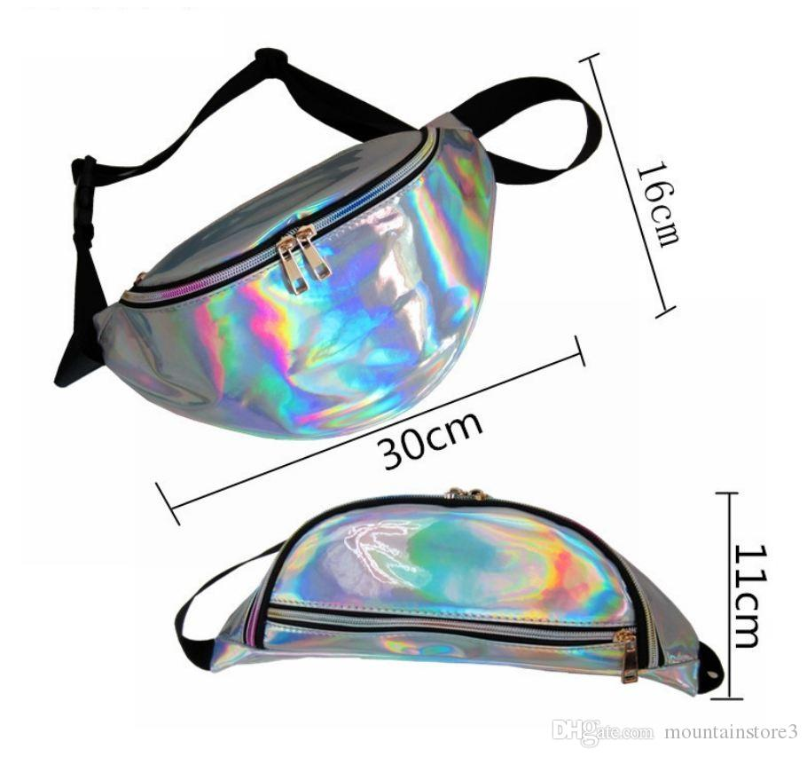 New Holographic Fanny Pack Laser Waist Packs Heuptas Hip Bag Women's Waistband Banana Bags Waist bag Unisex bolso cintura -l
