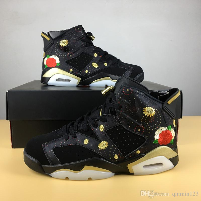 With box 6 VI Chinese New Year black CNY 6s MEN basketball shoes women sports sneakers trainers TOP quality size 36-47