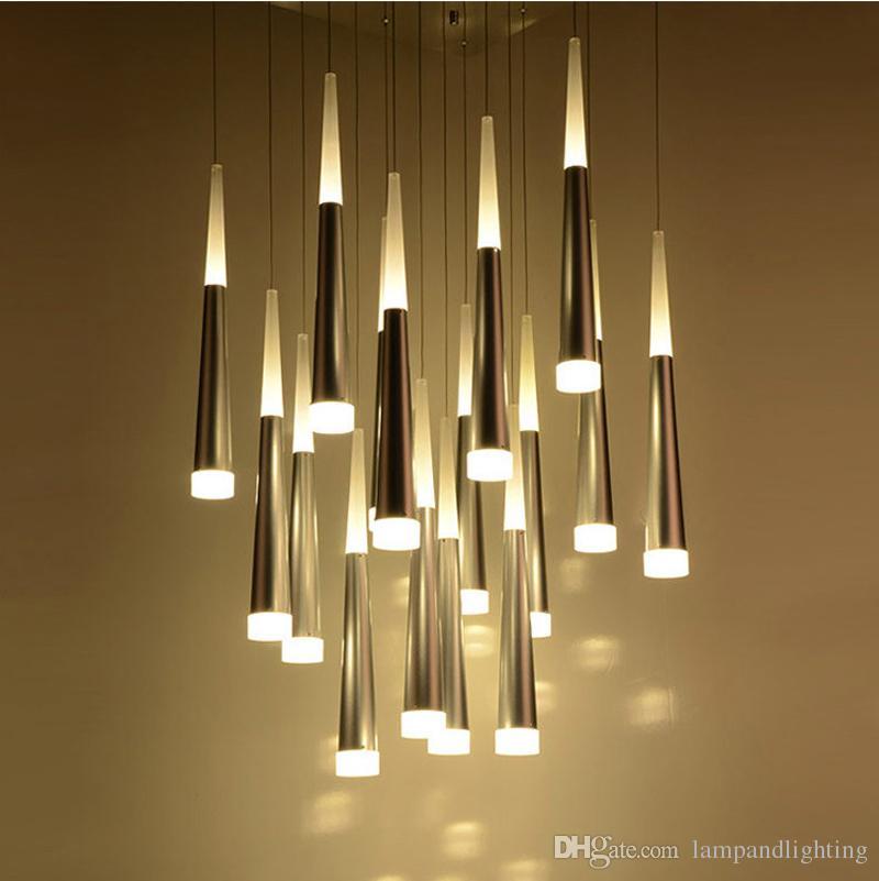 Compre Luminaria LED Para Lámpara De Techo Decorativa Colgante Decorativa  LED Simple Y Moderna Para La Tienda De Barra De Café En Casa Decoración A  $85.43 ...