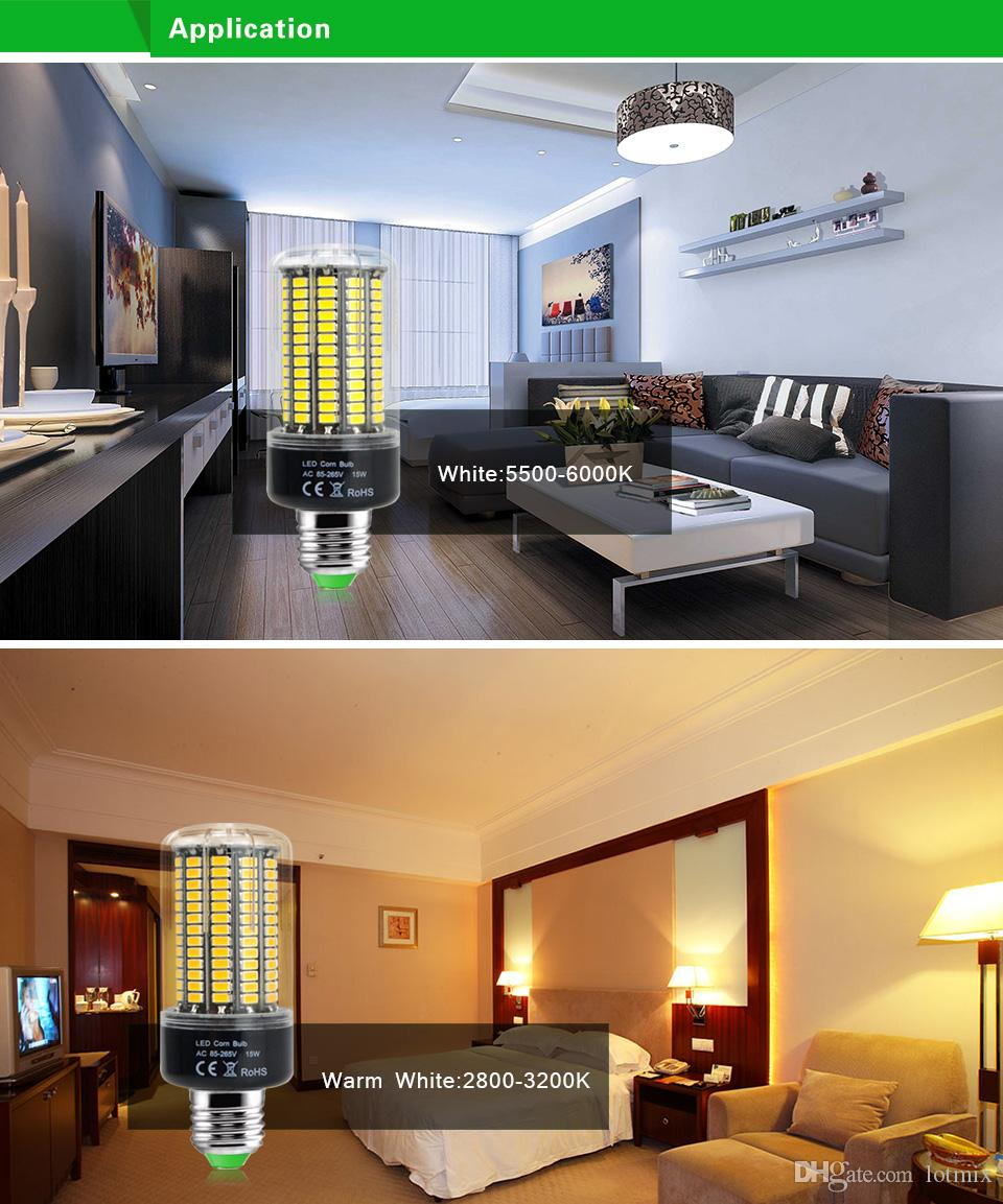 220V 110V LED Bulb LED lamp LED Light E27 E14 lamparas 3W 5W 7W 8W 12W 15W 85-265V SMD 5736 Ampoule Candle Luz Spotlight