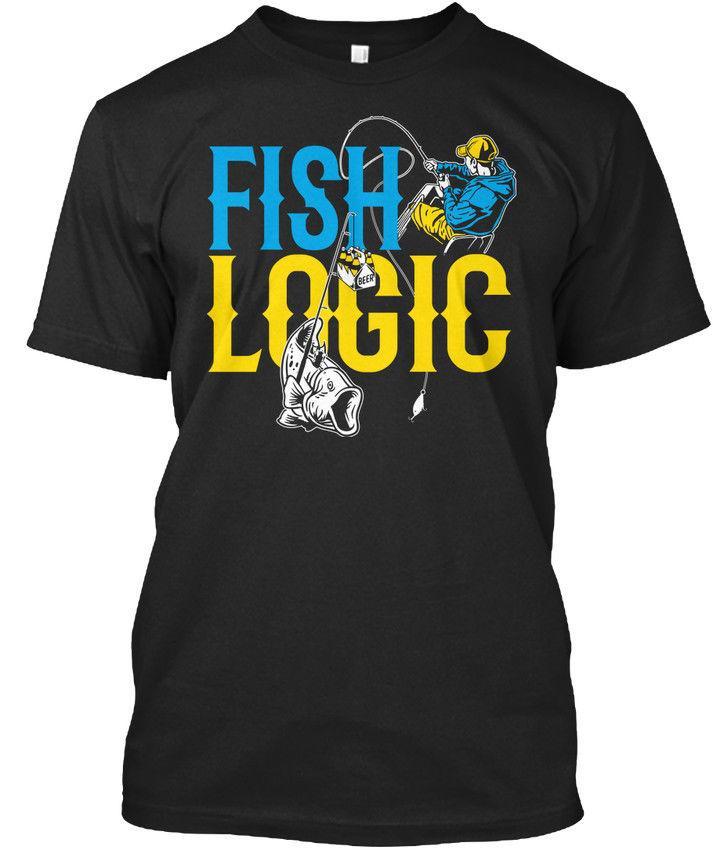 d0ca0e6db Eu Fishinger Fish Logic T Shirt Round Collar Short Sleeve T Shirts Top Tee  New 2018 Fashion Mens T Shirts Anime Text Online with $28.54/Piece on ...