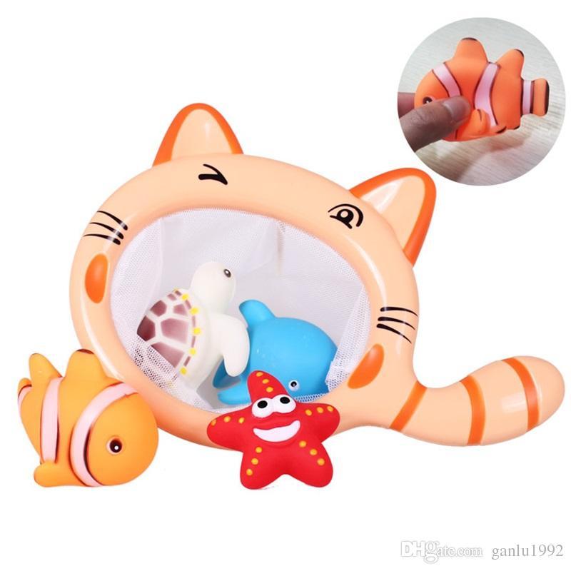 Giochi di acquolina in acqua nuoto con piccoli animali Giochi di doccia in bagno giochi acquatici divertenti 8bs W