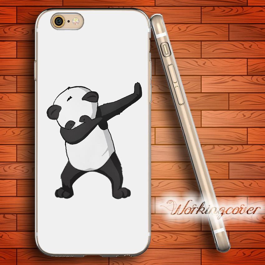 d567969638f Capa Panda Dab Clear TPU Silicone Case For IPhone X 8 6 6S 7 Plus 5S SE 5  5C 4S 4 Case For IPod Touch 6 5 Cover. Protective Cell Phone Cases ...