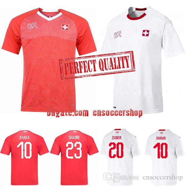 17e7a954e10 Switzerland soccer jerseys 2018-2019 World Cup jersey Switzerland football  shirt Perfect quality kit Custom football jersey