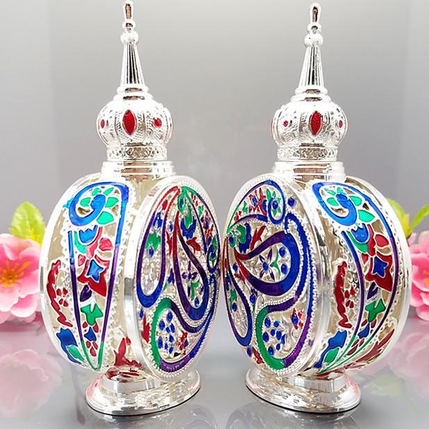 bong glass jar 12ml High quality Silver Vintage Empty Perfume Bottles,Bronze Alloy Arabic perfumes bottle dubai,antique parfum metal bottle