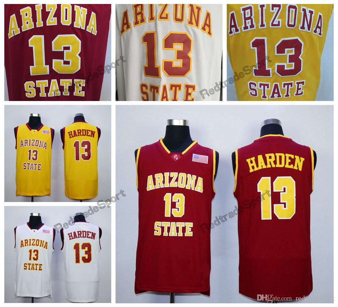 5e297c079 2019 Mens Arizona State Sun Devils James Harden College Basketball Jerseys  Cheap Vintage 13 James Harden Home Red Stitched Basketball Shirts From ...