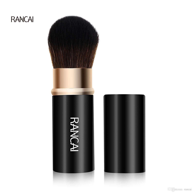 Rancai 개폐식 메이크업 브러쉬 파우더 파운데이션 블러쉬 얼굴 홍당무 얼굴 Kabuki 브러시 Maquiagem 화장품 도구