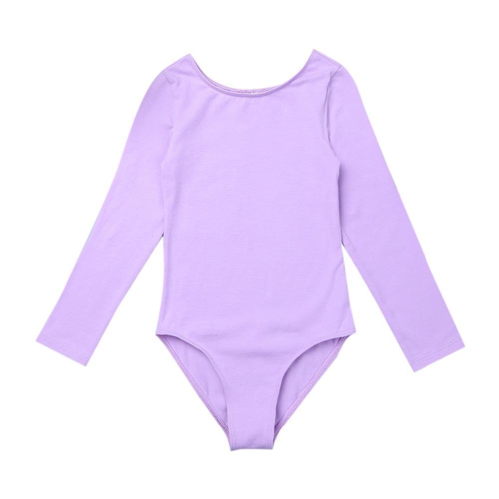 ca4de34b759d Girls Tutu Girls Leotard Dancewear Cotton Long Sleeves Ballet Dance ...