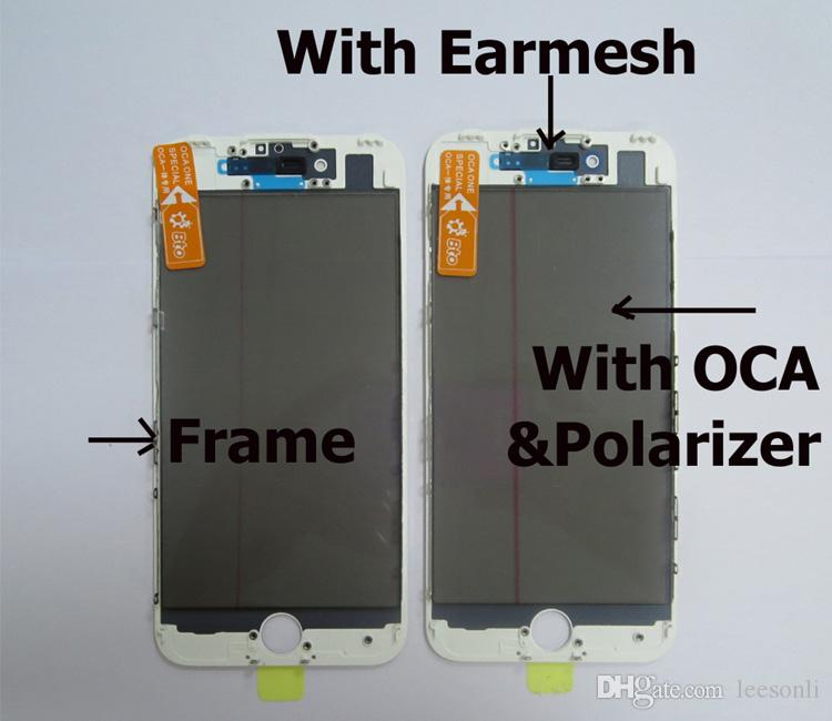 High Quality Phone Repair Parts Front Glass with Frame+OCA+Polarizer Film for iPhone 7G LCD Replacement Parts