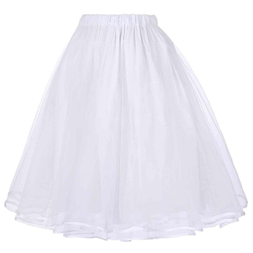 63cd085013 2019 Tulle Skirts Womens Black White Adult Tutu Skirt Elastic High Waist  Pleated Vintage Petticoat Saia Rockabilly Swing Midi Skirt From Goodly3128